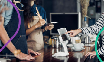 using mobile pay to buy coffee